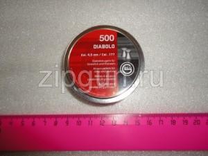 Пули RWS DIABOLO BASIC,0,45гр. 500шт., 4.5 мм пр-во Германия (плоские)