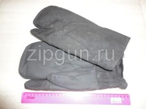 Рукавицы армейские трехпалые, с натуральным мехом (цигейка).