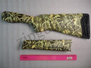 МР-27 Приклад и цевье камуфлированный зеленый камыш (3)